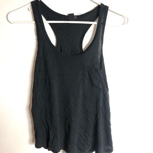 Pocket racer back tank